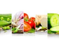 för livsstilmix för bakgrund sund grönsak Royaltyfri Bild