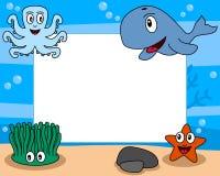 för livstidsfoto för 2 ram hav vektor illustrationer