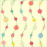 Seamless blommabakgrund Vektor Illustrationer