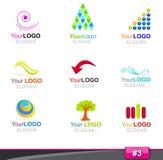 för logodel för 3 element set Fotografering för Bildbyråer