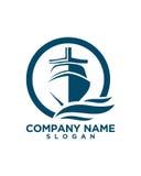 För logodesign 2 för flotta abstrakt abstrakt begrepp för försäkring för affär stock illustrationer