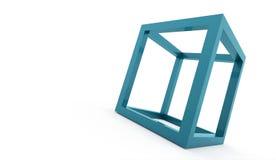 för logodesign för kub 3D symbol Royaltyfria Bilder