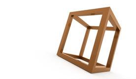 för logodesign för kub 3D symbol Arkivbilder