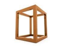 för logodesign för kub 3D symbol Royaltyfri Foto