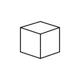 för logodesign för kub 3d symbol, Arkivfoto