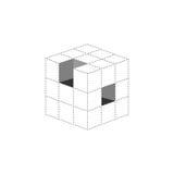 för logodesign för kub 3d symbol, Royaltyfria Bilder