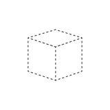 för logodesign för kub 3d symbol, Royaltyfri Bild