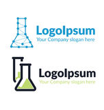 För logokemikalie för två mall flaska Fotografering för Bildbyråer