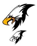för logomaskot för örn head vektor Arkivfoton
