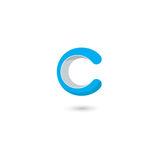 För logosymbol för bokstav C beståndsdelar för mall för design Abstrakta vektorbeståndsdelar för emblem, etikett eller symbol för Royaltyfri Bild