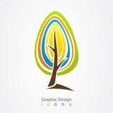 För logoträd för grafisk design symbol Royaltyfri Fotografi