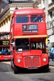 för london för bussdäckaredouble routemaster red fotografering för bildbyråer