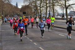 För London för cancerforskning körning vinter fotografering för bildbyråer