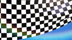 För loppflagga för närbild rutigt vinka stock illustrationer