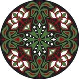För lotusblommablomma för vektor rund modell för orientalisk traditionell guldfisk Royaltyfria Foton