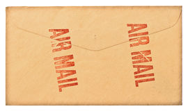 För luftpost för tappning grungy kuvert Royaltyfria Foton
