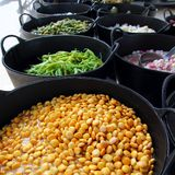 för lupinsmarknad för chili gröna knipor för peppar Royaltyfri Foto