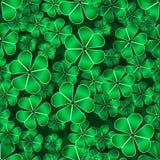 För lutningtreklöver för modell sömlös grön bakgrund för natur royaltyfri illustrationer