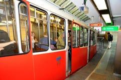 för lyon för fourvierefuniculaire lägre vieux station Arkivfoto