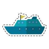 För lyxig bitande linje loppdestination för yacht stock illustrationer