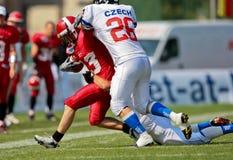för mästerskapeuropean för 2009 american b fotboll Arkivfoton