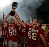 för mästerskapeuropean för 2009 american b fotboll Fotografering för Bildbyråer