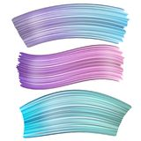 för målarfärgborste för abstrakt begrepp 3d slaglängd Uppsättning av den färgrika vätskemålarfärgslaglängden stock illustrationer
