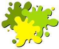 för målarfärgsplatter för 2 logo våt rengöringsduk stock illustrationer