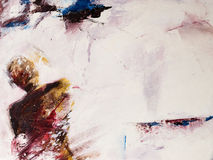 för målningsperson för akryl modernt tänka royaltyfri illustrationer