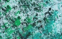 För målningvattenfärg för grön silver vit blå suddig bakgrund, abstrakt målningvattenfärgbakgrund fotografering för bildbyråer