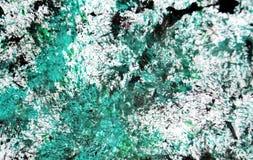 För målningvattenfärg för grön svart silver vit blå suddig bakgrund, abstrakt måla vattenfärgbakgrund arkivbilder