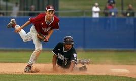 för maine för baseballjersey liga värld hög serie Arkivfoto