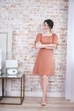 För makeuphår för kvinna sexig härlig stil för mode för kläder Royaltyfri Bild