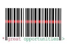 för makrotillfällen för barcode stort avläsa arkivbild