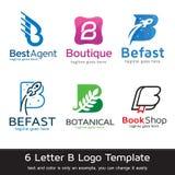 För malldesign för bokstav B vektor Royaltyfri Illustrationer