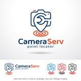 För malldesign för kamera tjänste- vektor Stock Illustrationer