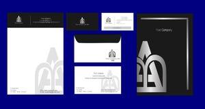 För mallsilver för företags identitet stil Royaltyfria Foton