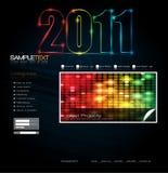 för mallvektor för 2011 design website Royaltyfri Bild