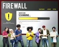 För Malware för Firewall för datafilskydd begrepp borttagning arkivbild