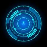 För manöverenhetsbakgrund för teknologisk kommunikation glödande vektor Arkivfoton