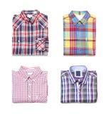 För man` s för affär klassiska skjortor Royaltyfria Bilder