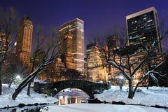 för manhattan för central stad park york ny panorama Royaltyfri Bild