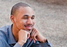 för manprofessionell för afrikansk amerikan lyckligt barn royaltyfri bild