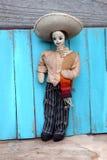För mantorkduk för tappning mexicansk docka Arkivbild