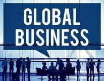För marknadsföringsglobalisering för global affär begrepp för kommers Arkivbilder