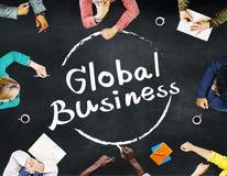 För marknadsföringsglobalisering för global affär begrepp för kommers Arkivbild