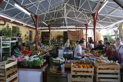 för marknadsställen för mat äkta by för portugis Royaltyfri Foto