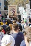för marschpropositionen för 8 angeles los protesten samlar Arkivbild