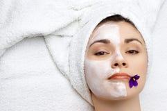 för maskeringssalong för skönhet ansikts- serie Arkivfoton