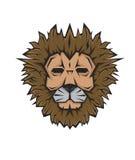 För maskottatuering för lejon head framsida Royaltyfri Illustrationer